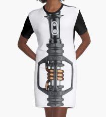 Crank Bro Eggbeater Pedals Graphic T-Shirt Dress