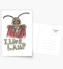 Meme Moth - I Love Lamp!  Postcards