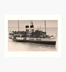 Waverley Paddle Steamer In Sepia Art Print