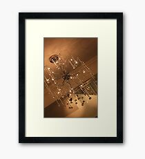 Wired Chandelier Framed Print