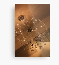 Wired Chandelier Metal Print