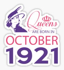 It's My Birthday 97. Made In October 1921. 1921 Gift Ideas. Sticker