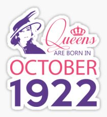 It's My Birthday 96. Made In October 1922. 1922 Gift Ideas. Sticker