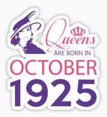 It's My Birthday 93. Made In October 1925. 1925 Gift Ideas. Sticker