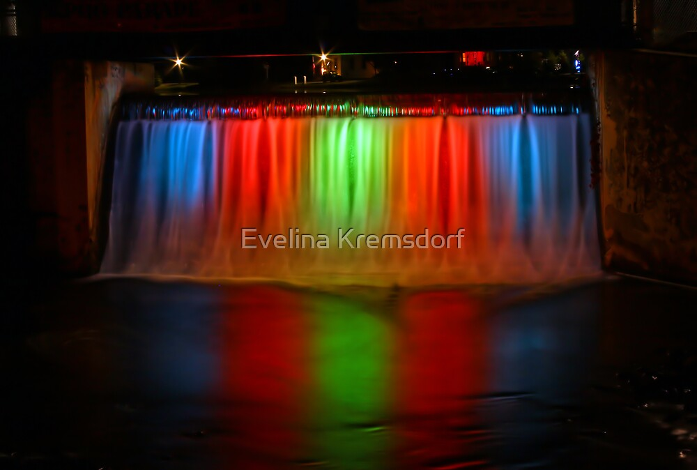 Rainbow Falls by Evelina Kremsdorf
