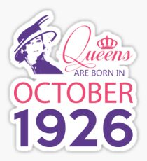 It's My Birthday 92. Made In October 1926. 1926 Gift Ideas. Sticker