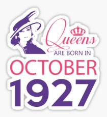 It's My Birthday 91. Made In October 1927. 1927 Gift Ideas. Sticker