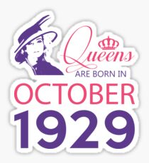 It's My Birthday 89. Made In October 1929. 1929 Gift Ideas. Sticker
