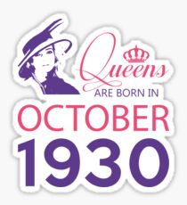 It's My Birthday 88. Made In October 1930. 1930 Gift Ideas. Sticker
