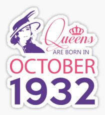 It's My Birthday 86. Made In October 1932. 1932 Gift Ideas. Sticker