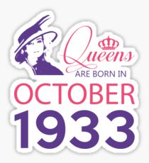 It's My Birthday 85. Made In October 1933. 1933 Gift Ideas. Sticker