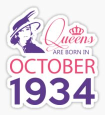 It's My Birthday 84. Made In October 1934. 1934 Gift Ideas. Sticker