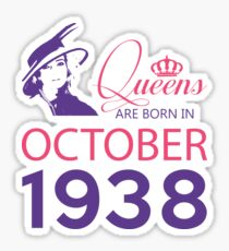 It's My Birthday 80. Made In October 1938. 1938 Gift Ideas. Sticker