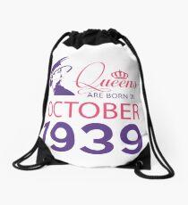 It's My Birthday 79. Made In October 1939. 1939 Gift Ideas. Drawstring Bag