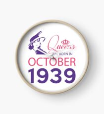 It's My Birthday 79. Made In October 1939. 1939 Gift Ideas. Clock