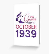 It's My Birthday 79. Made In October 1939. 1939 Gift Ideas. Greeting Card