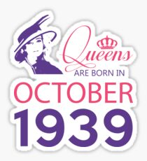 It's My Birthday 79. Made In October 1939. 1939 Gift Ideas. Sticker