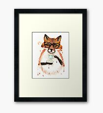 A Cuppa Tea With A Fox Framed Print