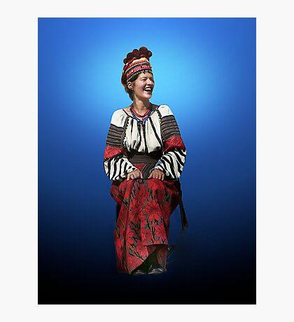 Woman in Hutsul Costume Photographic Print