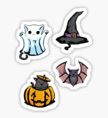 Cute Halloween Cat Kitten Bat Pattern Sticker
