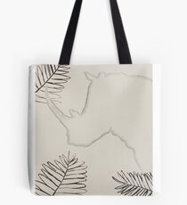 Rhino and palms Tote Bag