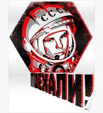 Yuri Gagarin - Let's Go! Poster