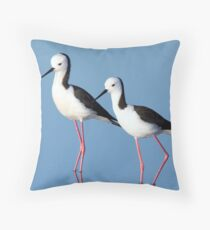 Black-winged Stilts Throw Pillow