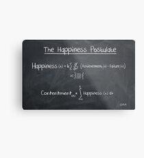 Happiness Postulate Metal Print