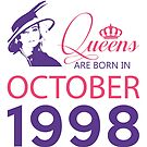 It's My Birthday 20. Made In October 1998. 1998 Gift Ideas. by wantneedlove