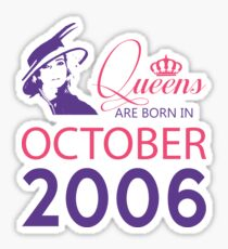 It's My Birthday 12. Made In October 2006. 2006 Gift Ideas. Sticker