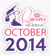 It's My Birthday 4. Made In October 2014. 2014 Gift Ideas. Sticker