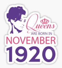 It's My Birthday 98. Made In November 1920. 1920 Gift Ideas. Sticker