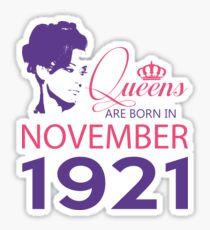 It's My Birthday 97. Made In November 1921. 1921 Gift Ideas. Sticker