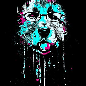 Dog with glasses by barmalisiRTB