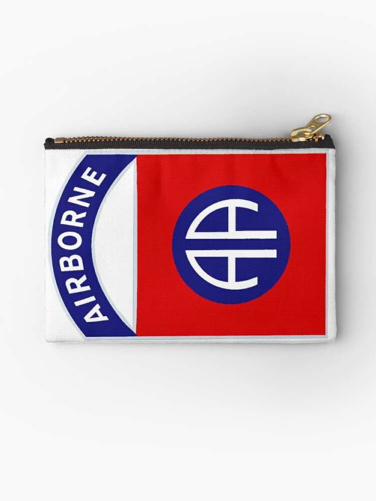 '82nd Airborne Division - The All Americans Insignia' Zipper Pouch by Nikki  SpaceStuffPlus