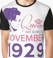 It's My Birthday 89. Made In November 1929. 1929 Gift Ideas. Graphic T-Shirt