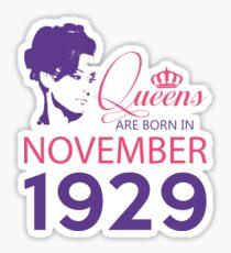 It's My Birthday 89. Made In November 1929. 1929 Gift Ideas. Sticker