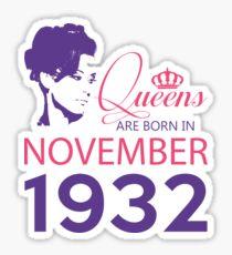 It's My Birthday 86. Made In November 1932. 1932 Gift Ideas. Sticker
