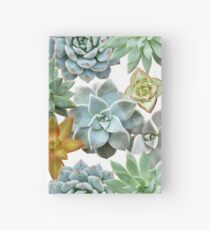 Succulent Pattern - Organic Botanics -  Nature Lover Succulent Mix for the Plant Lover Hardcover Journal
