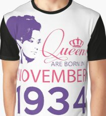 It's My Birthday 84. Made In November 1934. 1934 Gift Ideas. Graphic T-Shirt