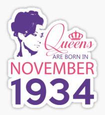 It's My Birthday 84. Made In November 1934. 1934 Gift Ideas. Sticker