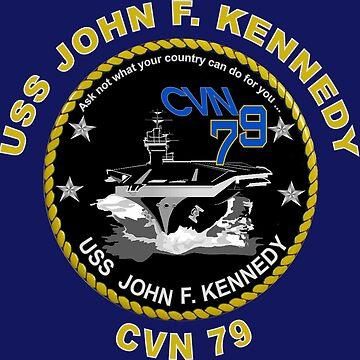 USS John F. Kennedy (CVN-79) Crest for Dark Colors by Spacestuffplus