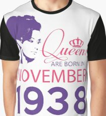 It's My Birthday 80. Made In November 1938. 1938 Gift Ideas. Graphic T-Shirt