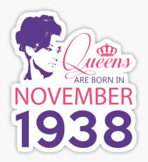It's My Birthday 80. Made In November 1938. 1938 Gift Ideas. Sticker