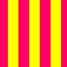 Bright Neon Pink and Yellow Vertical Cabana Tent Stripes by podartist