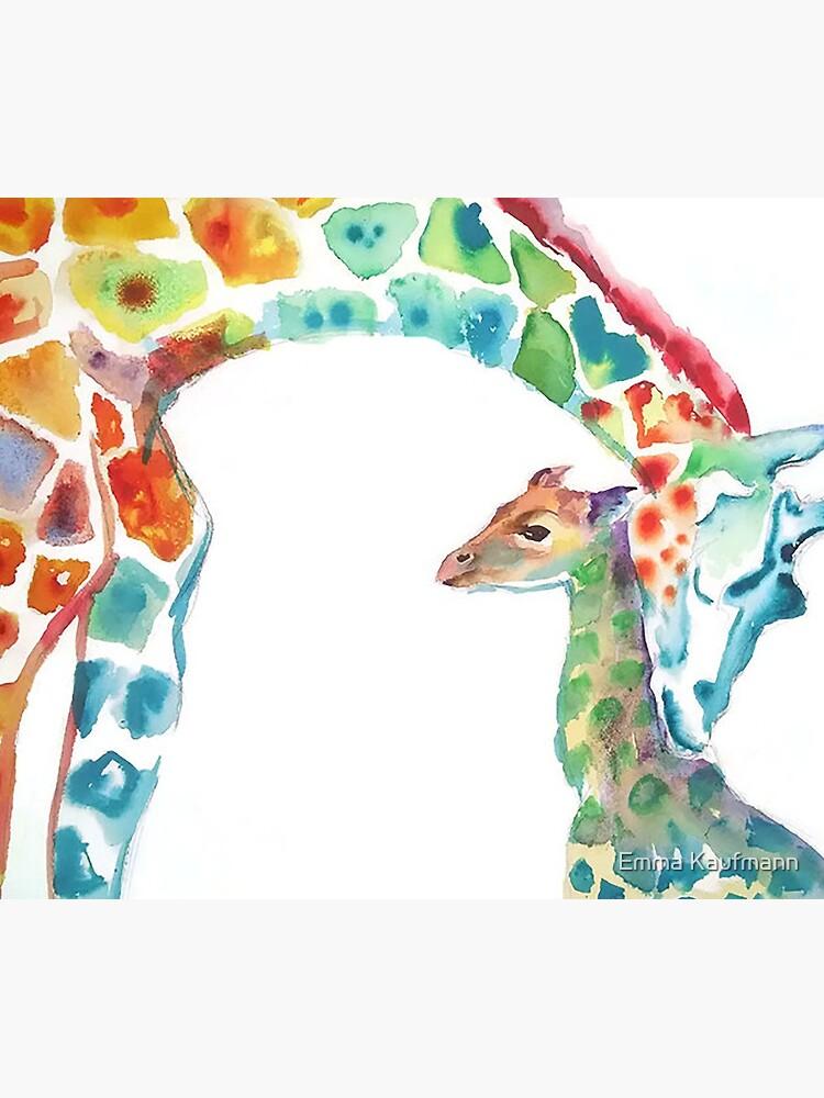 Giraffe Mama und Baby von StudioKaufmann