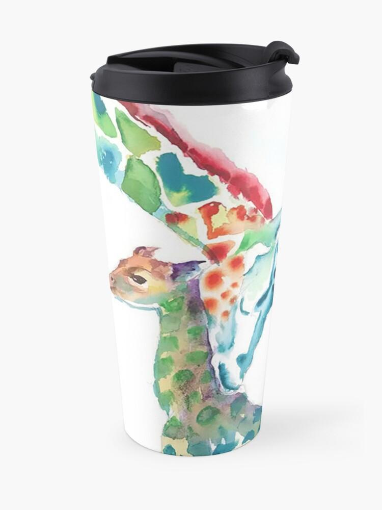 Alternative Ansicht von Giraffe Mama und Baby Thermobecher
