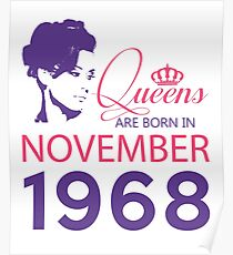 It's My Birthday 50. Made In November 1968. 1968 Gift Ideas. Poster