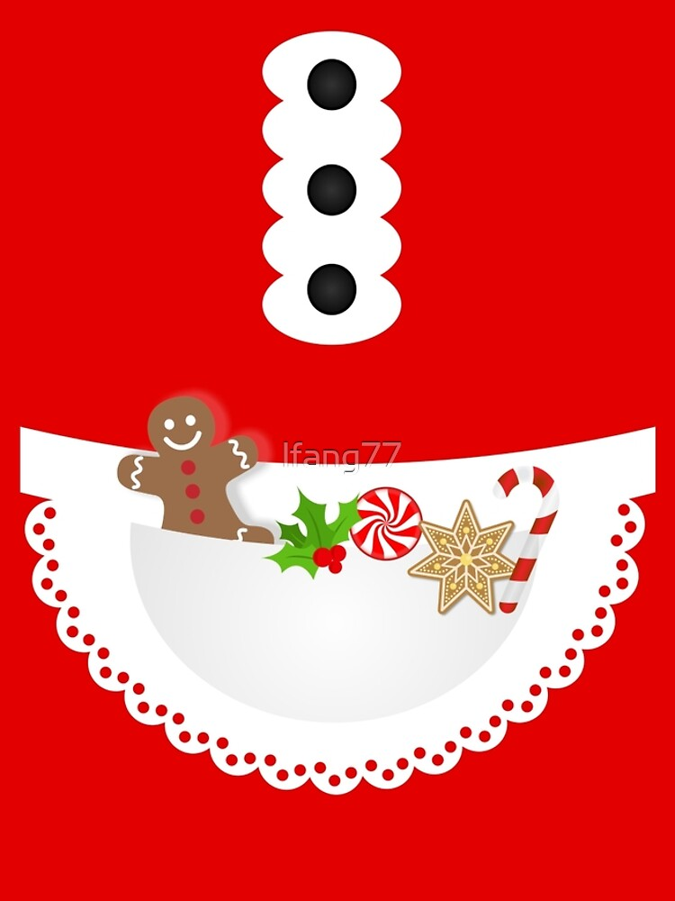 Festive gingerbread cookie candy cane christmas baker apron by lfang77