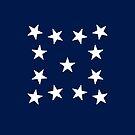 13-Star American Flag, Medallion Design, Evry Heart Beats True by EvryHeart